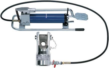 Гидравлические устройства  для опрессовки, резки, гибки и  выдавливания отверстий в металле